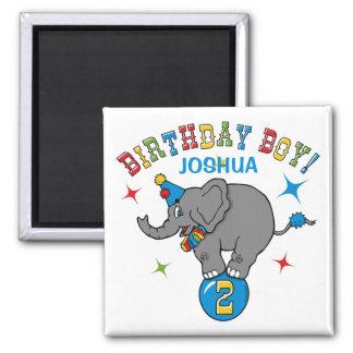 Circus Elephant 2nd Birthday Refrigerator Magnet