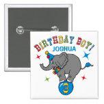 Circus Elephant 3rd Birthday Pinback Buttons
