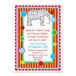 Circus Elephant Birthday Invitation- Primary