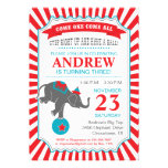 Circus Elephant Birthday Party Announcements