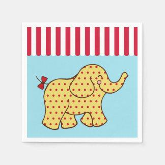 Circus Elephant Birthday Party Napkins Disposable Napkin