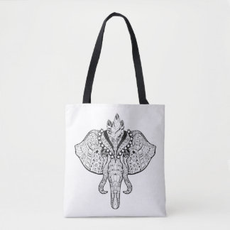 Circus Elephant Doodle 2 Tote Bag