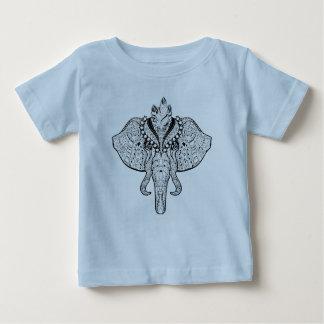 Circus Elephant Doodle Baby T-Shirt