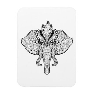 Circus Elephant Doodle Magnet