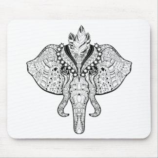 Circus Elephant Doodle Mouse Mat