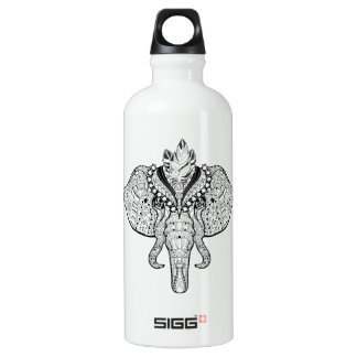 Circus Elephant Doodle Water Bottle