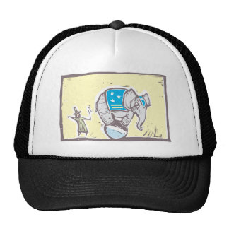 Circus Elephant Mesh Hats