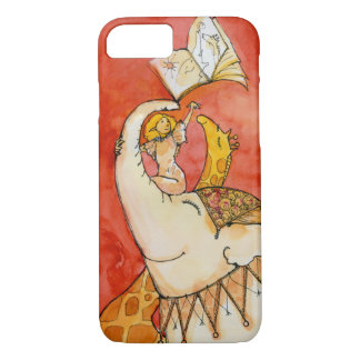 Circus Elephant loves to read iPhone 7 case