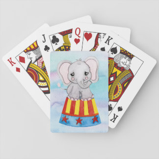 Circus Elephant Playing Cards