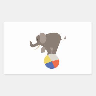 Circus Elephant Rectangular Sticker