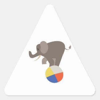 Circus Elephant Triangle Sticker