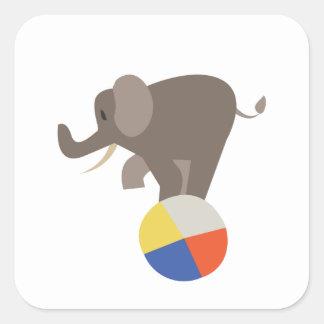 Circus Elephant Square Sticker