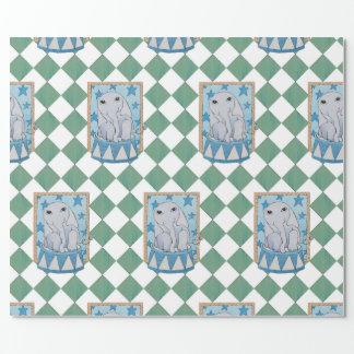 Circus Elephant Wrapping Paper