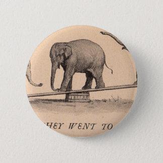 circus elephants 6 cm round badge