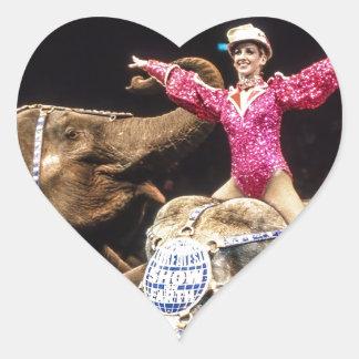 Circus Elephants.png Heart Sticker