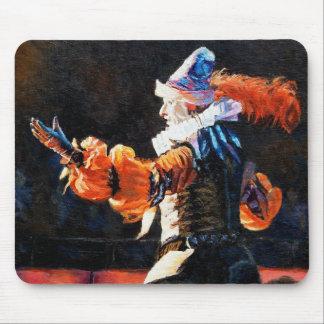 Circus Flora Narrator Figure Oil Painting Mouse Mat