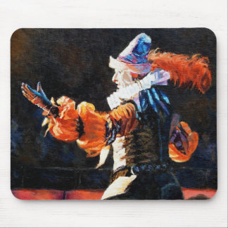 Circus Flora Narrator Figure Oil Painting Mouse Pad
