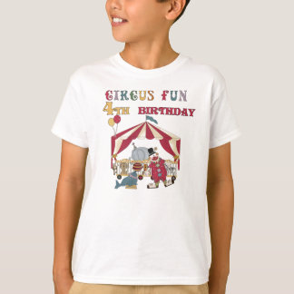 Circus Fun 4th Birthday T-Shirt