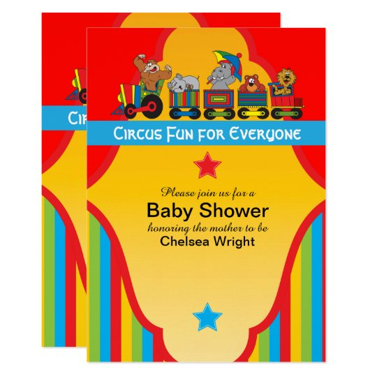 Circus Fun Baby Shower Invitation