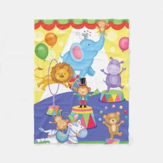 Circus Fun Flannel Blanket
