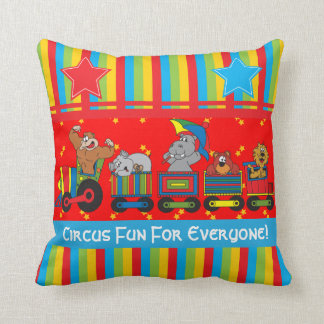 Circus Fun for Everyone Nursery Theme for Baby Cushion