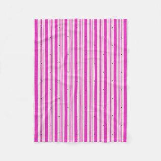 """Circus"" Fushia Pink Fleece Blanket"
