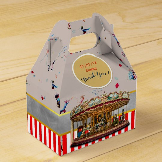 CIRCUS Gable Boxes Vintage Carousel Personalised