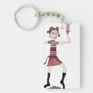 Circus Girl Keychain