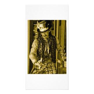 circus guy photo card