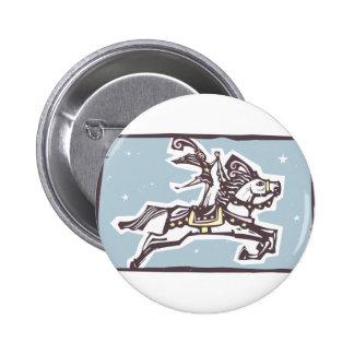 Circus Horse 6 Cm Round Badge