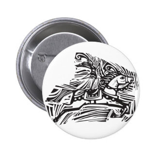 Circus Horse 2 Inch Round Button