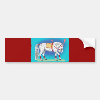 Circus Horse Bumper Sticker