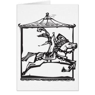 Circus Horse Greeting Card
