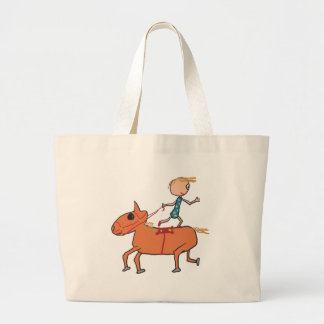Circus Horse Riding Large Tote Bag