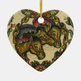 circus horses christmas ornament