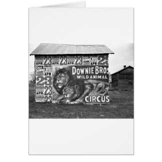 Circus in Tennessee, 1930s Card