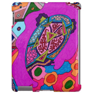 Circus Lion Abstract Poster iPad Case