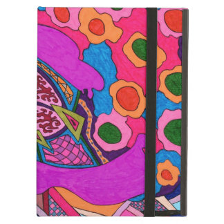 Circus Lion Abstract Poster iPad Folio Case