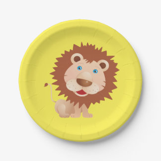 Circus Lion Birthday Party 7 Inch Paper Plate