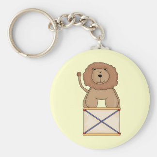 Circus Lion Basic Round Button Key Ring