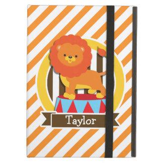 Circus Lion; Orange & White Stripes iPad Air Covers