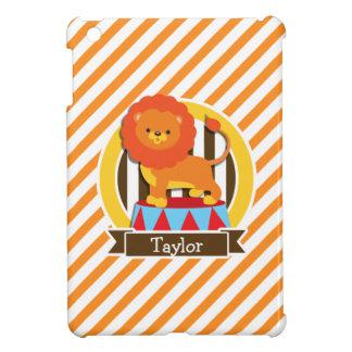 Circus Lion; Orange & White Stripes iPad Mini Cases