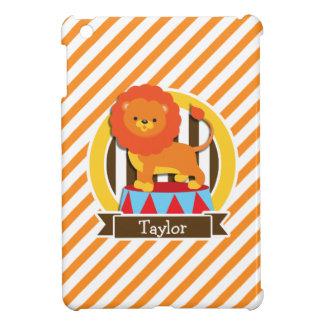 Circus Lion; Orange & White Stripes Case For The iPad Mini