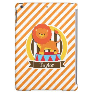 Circus Lion; Orange & White Stripes Case For iPad Air