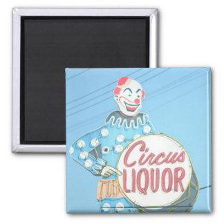 Circus Liquor Clown Magnet