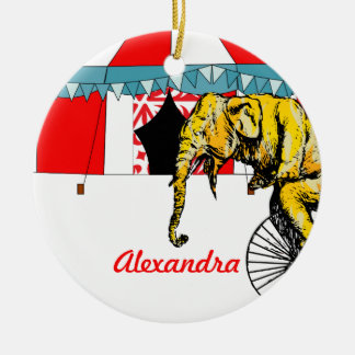 Circus Memorabilia In Memory of Circus Elephants Christmas Ornament