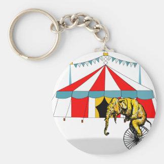 Circus Memorabilia In Memory of Circus Elephants Key Ring