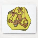 Circus Monkey Act Mousepad