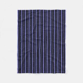 """Circus"" Night-Black-Blue Fleece Blanket"