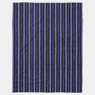 """Circus"" Night-Black-Blue_LARGE Fleece Blanket"